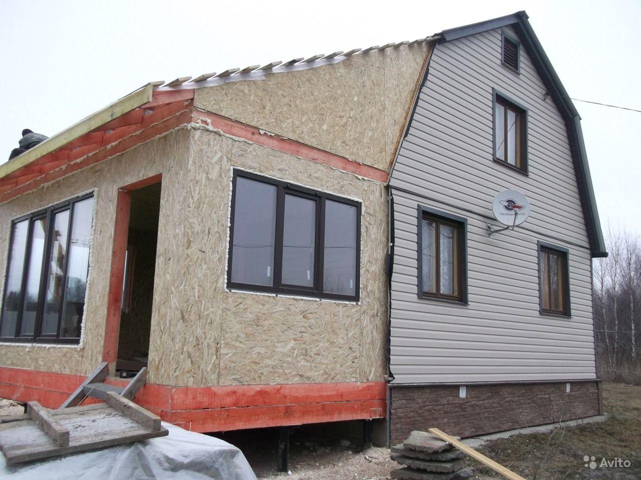 Фото пристройки к дому из осб